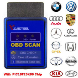 OBDII ELM327 Bluetooth Scanner PIC18F25K80 chip #1