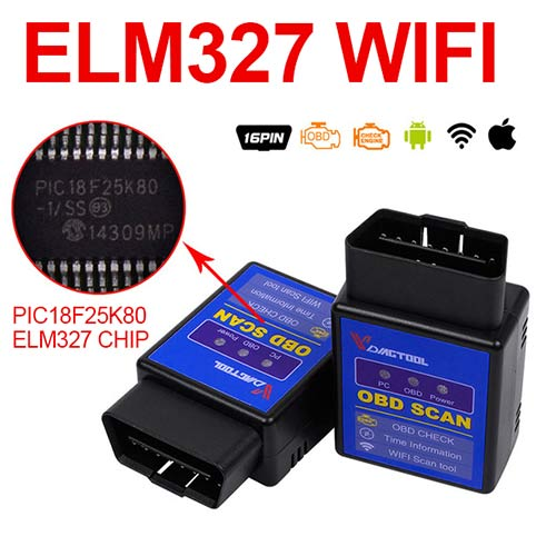 OBD2 ELM327 (WiFI) Scanner with PIC18F25K80 chip