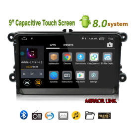 2 Din Car Multimedia Head Unit GPS Android 8.0, 9 inch Touch Screen